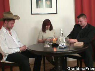 most old clip, real 3some fuck, grandma mov