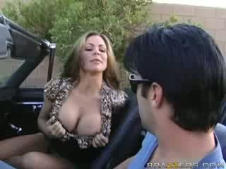 MILF Blowjob in a Muscle Car!
