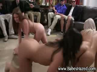 Babe babes on short leash