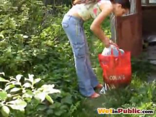outdoor sex video, public sex, nice pissing vid