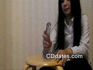 Japanese crossdresser dildo play with big cock