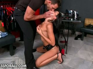 brunette, kissing, pussy licking, ass licking
