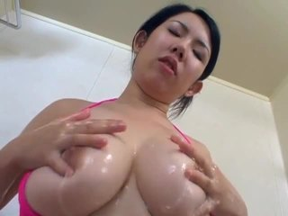 Big titted japanese babe flaunts body