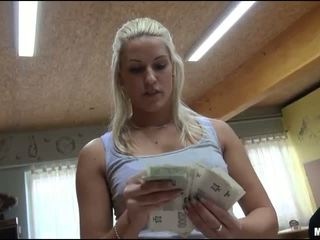 Eurobabe Blanche fucked in bowling alley