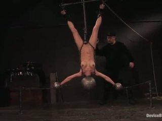 kwaliteit slavernij scène, nieuw vastgebonden-up neuken, hq bondaged tube