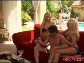 Tommy Gunn - Bikini Threesomes Sex Tasha Reign Leya Falcon