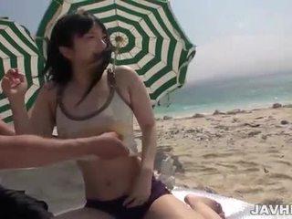 Hina Maeda fucks on the beach