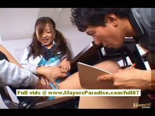 najlepsze japoński dowolny, pełny uczennice najgorętsze, zabawa azjatyckiego ty
