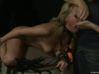 Blonde gets bondaged and punished