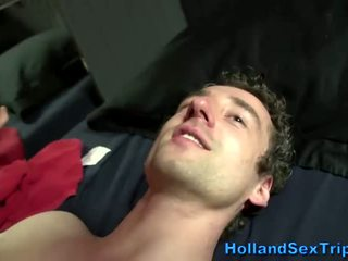 Cumshot on sex worker in amsterdam