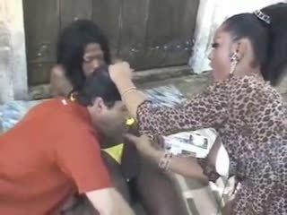 Big dicked Suzana in interracial threesome