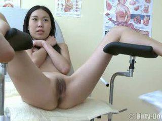 kijken vagina scène, dokter, controleren speculum mov