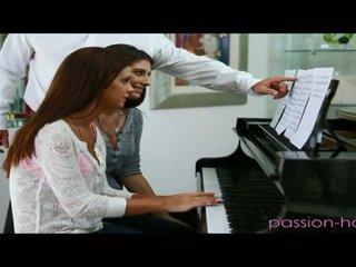 Doing Their Piano Teacher