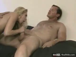 Blonde slut DP