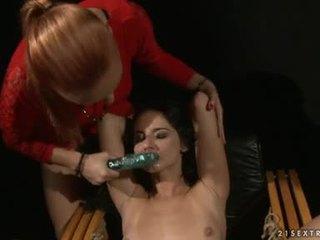 Katy Borman Let Fastened Babe Suck The Dildo