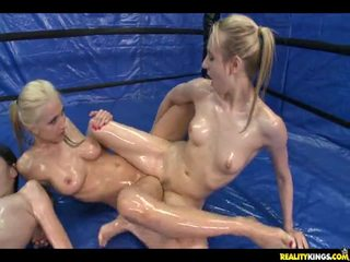 Rilee And Three Other Babes Rub Their Oily Bodies