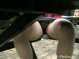 Erotic Upskirts Of Shay Hendrix Trimmed Muff Pie In Public At A Bar In England