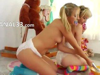 Unique lezz games with diapers