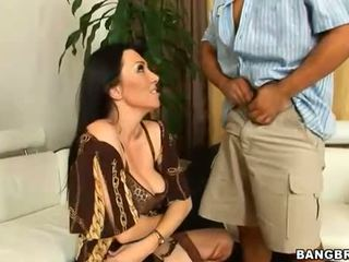 Sexy mature is posing lustily