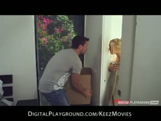Manuel Ferrara - Big-tit blonde seduces her man fresh out of the shower