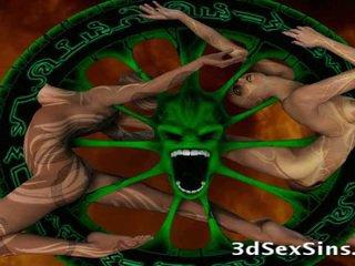 Scary Ogres Bang 3d Girls!