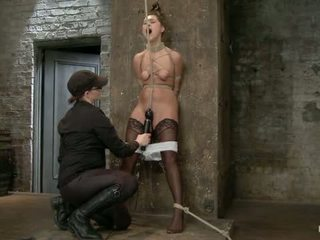 Scarlet Banks Cums To Hogtied
