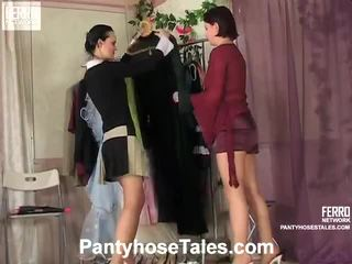 ถุงน่องแบบมีสายรัด tales ฉาก ด้วย kathleen, rosa, govard