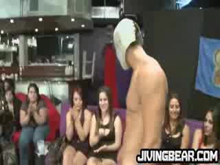 Dancer cums on chubby sluts big tits