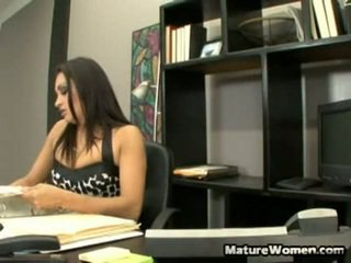 Nothing Makes You Want To Go To Work More Than Having A Erotic Mom Id Like To Fuck For A Boss. When He Comes Late To Work She Makes Him Pay By Undressing Off His Pants And Grabbing His Long Boner In H