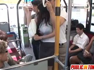 Busty MILF Has Some Wild Public Sex On A Crowded Bus