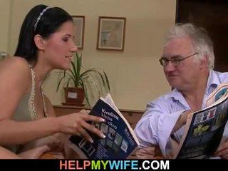 Oud echtgenoot watches zijn vrouw getting banged