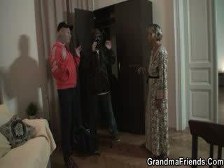 Granny wants both hard dicks