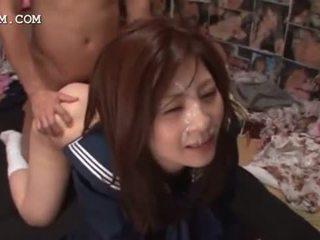 Kacau asia ejakulasi rame-rame dengan pelajar putri kacau di kelompok
