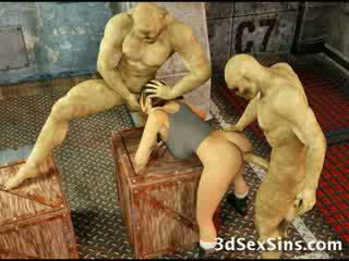 Zombies cum on 3D Babe!