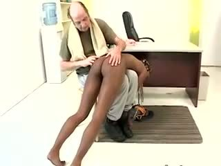 Nice ebony gets puniched.