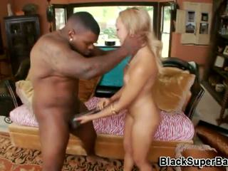 Sexy ebony babe pussy slammed