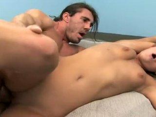 brunette, tiener sex actie, hardcore sex actie