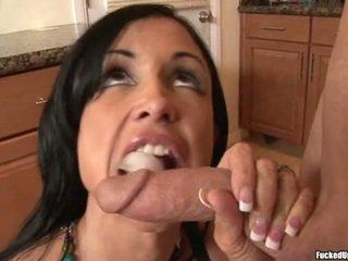 brunette actie, hoofd geven porno, oraal tube