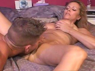 Blonde Nicole Moore Fitting Jock Up Taut Slit