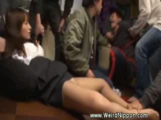 Japanese girl manhandled