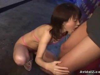 ญี่ปุ่น ai himeno gives เขา a ดี ใช้ปากกับอวัยวะเพศ