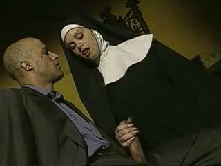 sexy, δυσάρεστος, ιταλικά, nuns