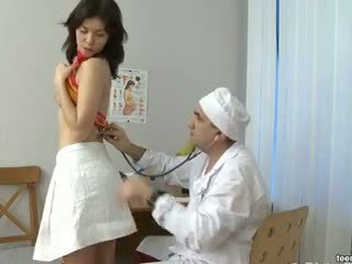 Dirty doctor seduces Eva