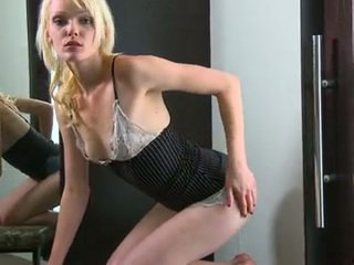 Tall Leggy Blonde Playthings Her Swollen Pearl