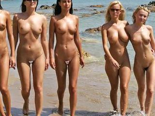 Nahé pláž móda show 2