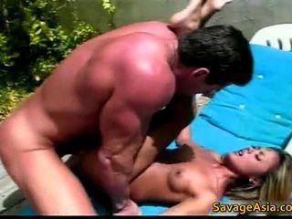 A Horny Slut Gets Fucked By Couple Men