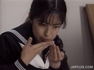 ideaal japanse seks, mooi uniform, heetste fetisch vid