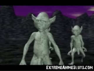 3d aliens sur une princesse!
