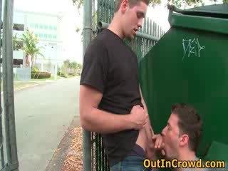 plezier zuigen scène, homo- video-, u voyeur film