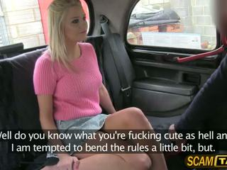 Gorgeous blonde Sienna gets a quick fucked in the backseat by pervy driver